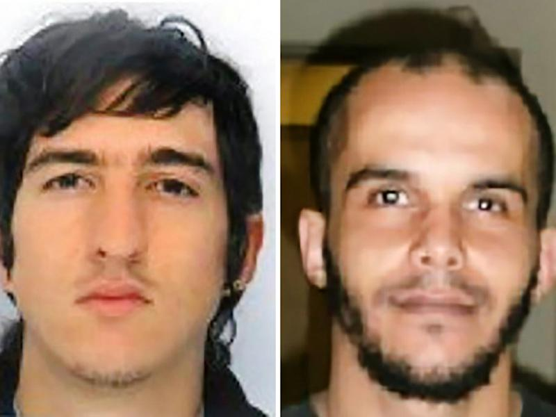 Clement B (left) and Mahiedine M (right) were arrested in Marseille, southern France (Getty)
