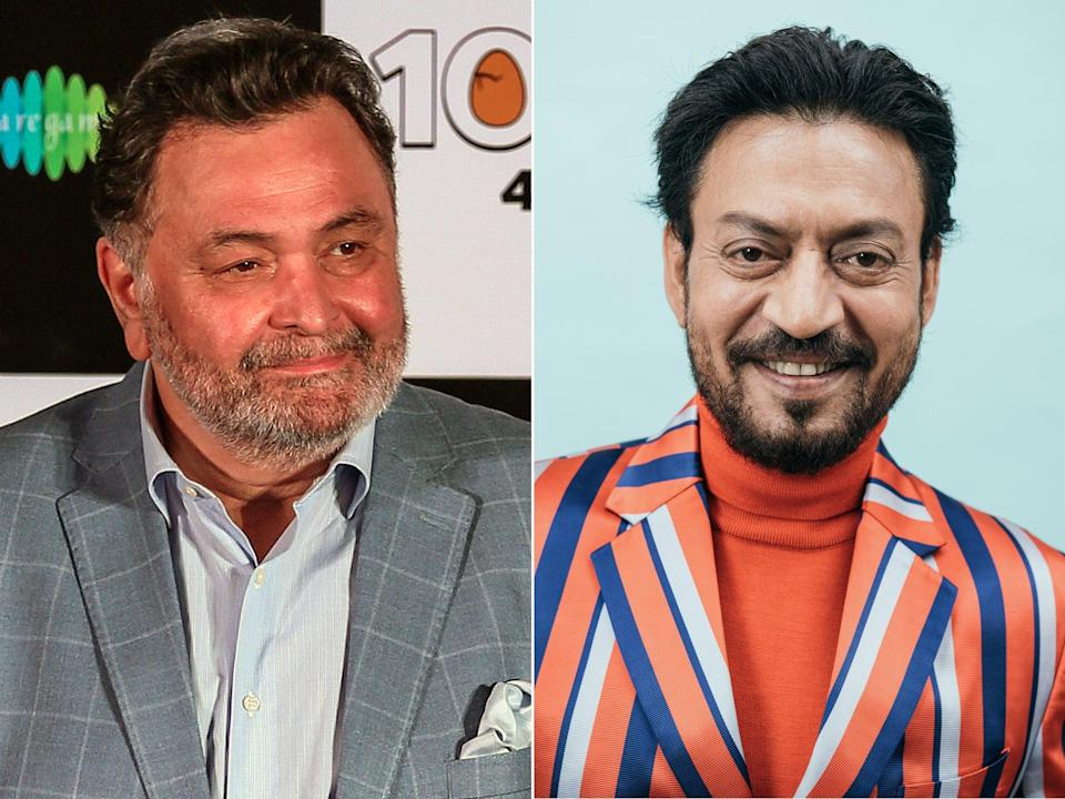 <p>File image: Late Bollywood actors Rishi Kapoor and Irrfan Khan</p> (EPA/Getty/DIFF)