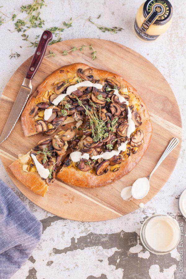"Enjoy mushrooms in a mustard cashew cream sauce, served on top of crusty brioche bread. <strong>Get the recipe at </strong><a href=""http://www.deliciouseveryday.com/mushroom-leek-brioche-tart/"" rel=""nofollow noopener"" target=""_blank"" data-ylk=""slk:Delicious Everyday"" class=""link rapid-noclick-resp""><strong>Delicious Everyday</strong></a>."