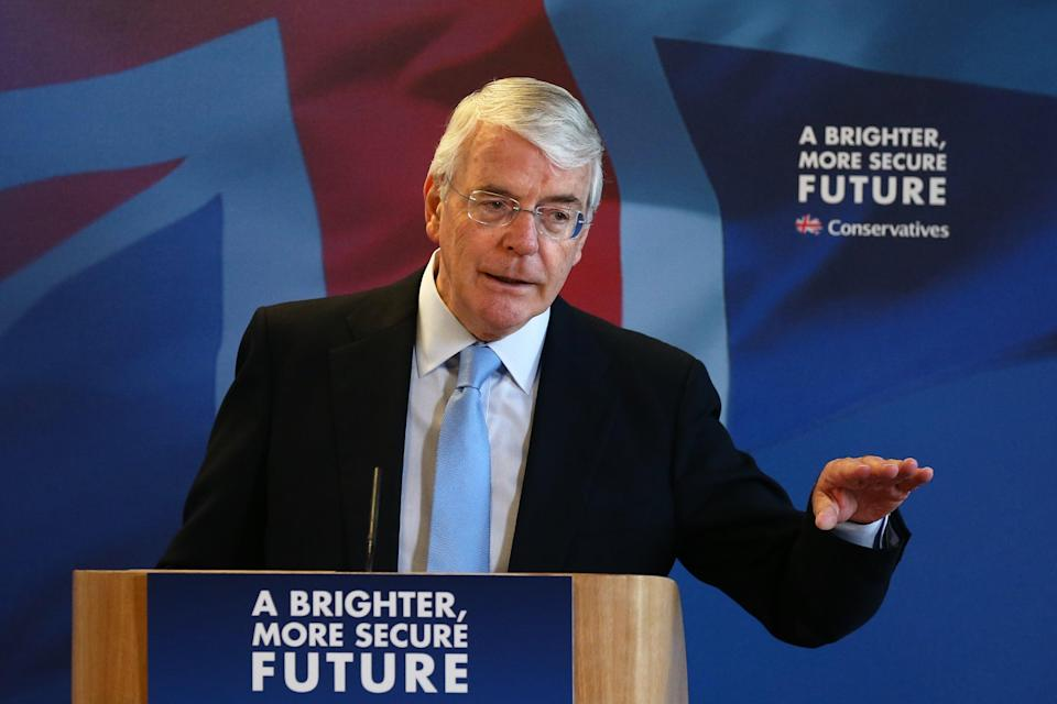 John Major delivering a speech in Solihull in 2015 (Getty Images)