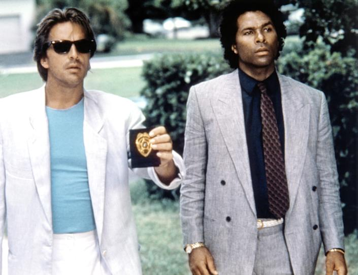 Don Johnson and Philip Michael Thomas as the original Crockett and Tubbs in the NBC version of Miami Vice (Photo: Universal Television / Courtesy: Everett Collection)