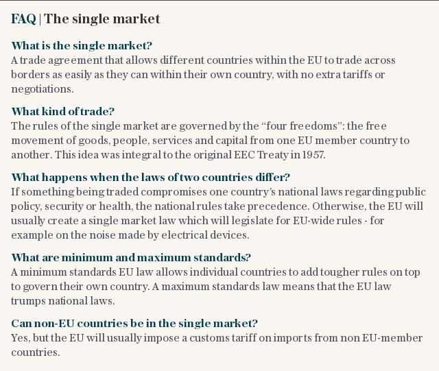 FAQ | The single market