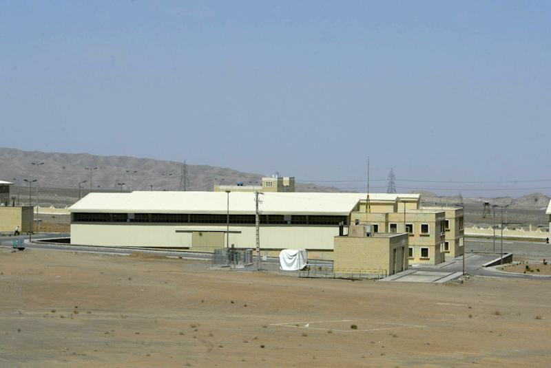 A general view shows the Iranian nuclear power plant of Natanz on March 30, 2005