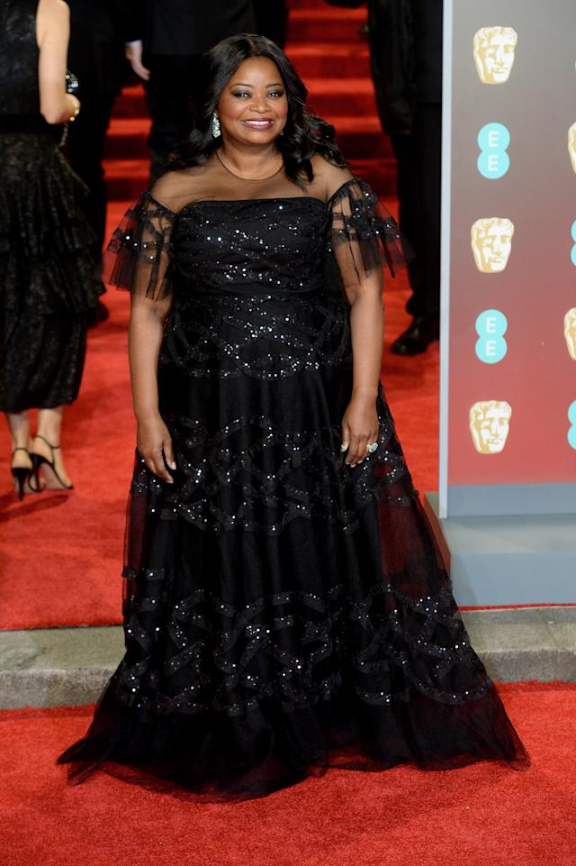 <p>The Oscar-winning actress dazzled in a sparkly gown. </p>