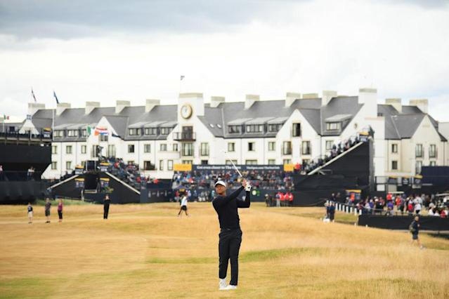 Tiger Woods returns to the Open Championship at Carnoustie. (Getty)