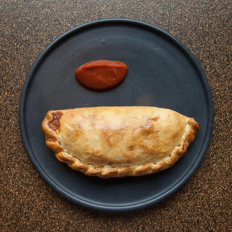 The Cheese Barge's three cheese-and-onion pasty: 'Humongous.'