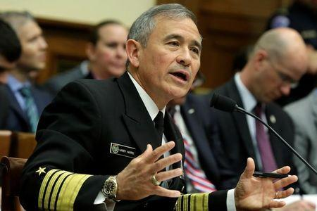 Commander of the U.S. Pacific Command, Admiral Harry Harris testifies