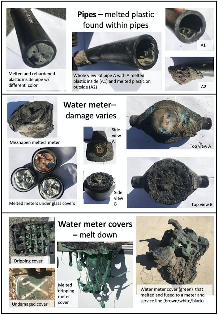 Melted pipes and water meters