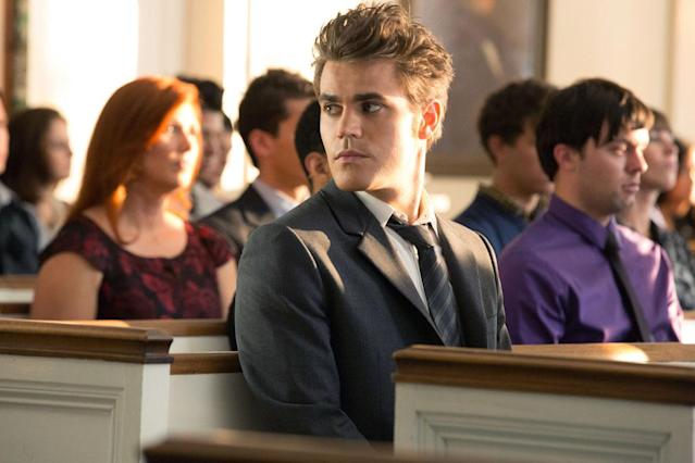 "Paul Wesley as Stefan in ""Memorial,"" the second episode of ""The Vampire Diaries"" Season 4."