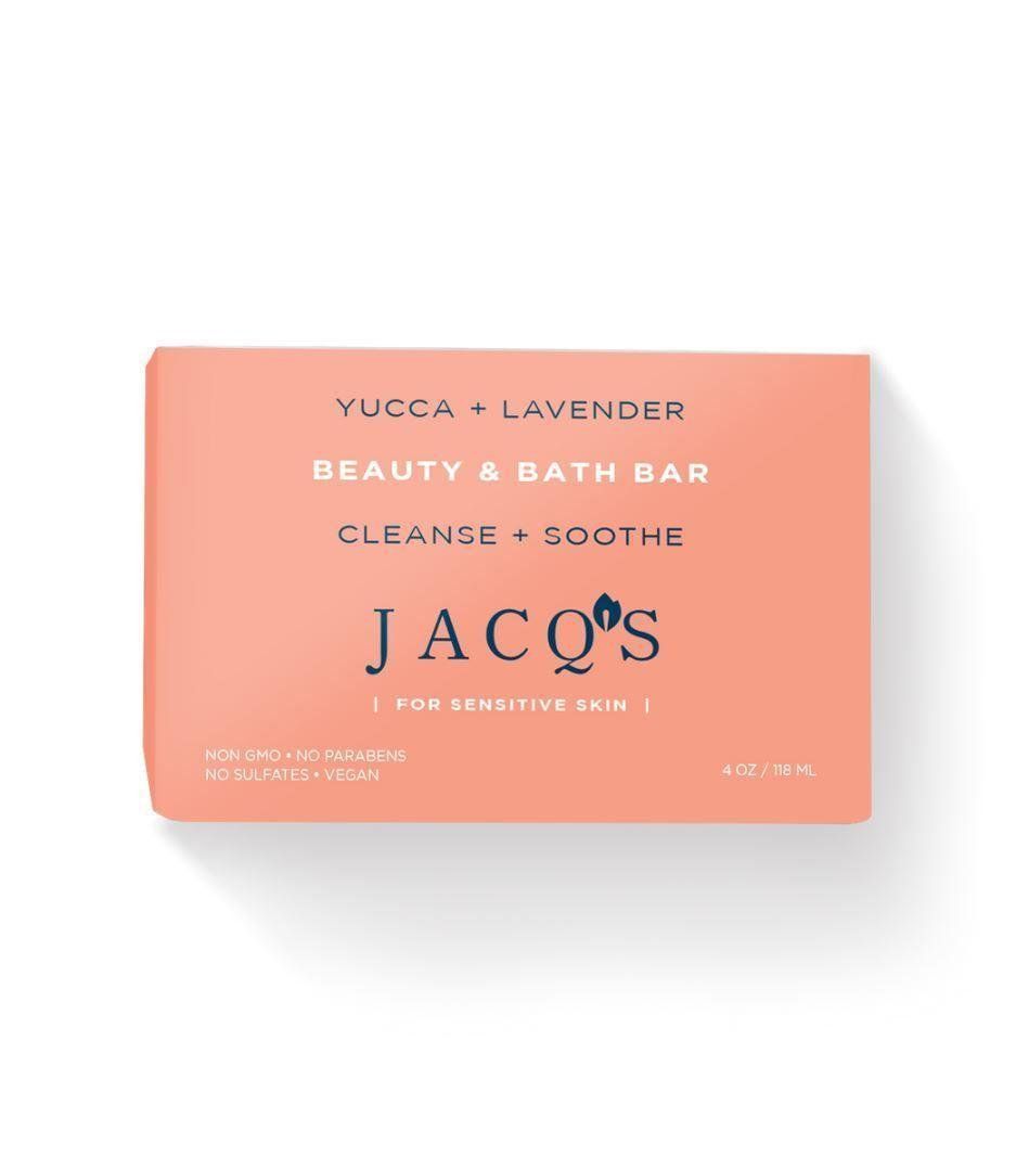 "<p><strong>JACQ's </strong></p><p>shopjacqs.com</p><p><strong>$6.00</strong></p><p><a href=""https://www.shopjacqs.com/collections/beauty-bars/products/yucca-lavender-cleansing-bar"" rel=""nofollow noopener"" target=""_blank"" data-ylk=""slk:Shop Now"" class=""link rapid-noclick-resp"">Shop Now</a></p><p>Bar soaps and cleansing bars aren't typically known for being super friendly for sensitive skin. JACQ's is changing that though, thanks to this gentle bar, which can be used all over your body.</p>"