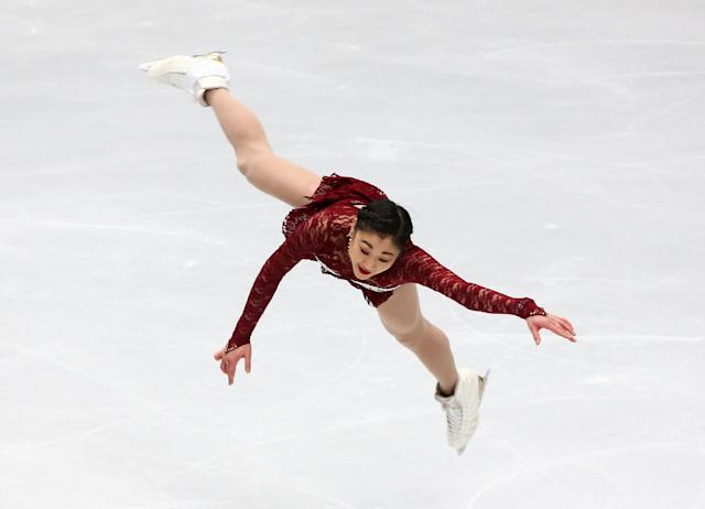 Figure Skating - World Figure Skating Championships - The Mediolanum Forum, Milan, Italy - March 21, 2018 Mirai Nagasu of the U.S. during the Ladies Short Programme REUTERS/Alessandro Bianchi