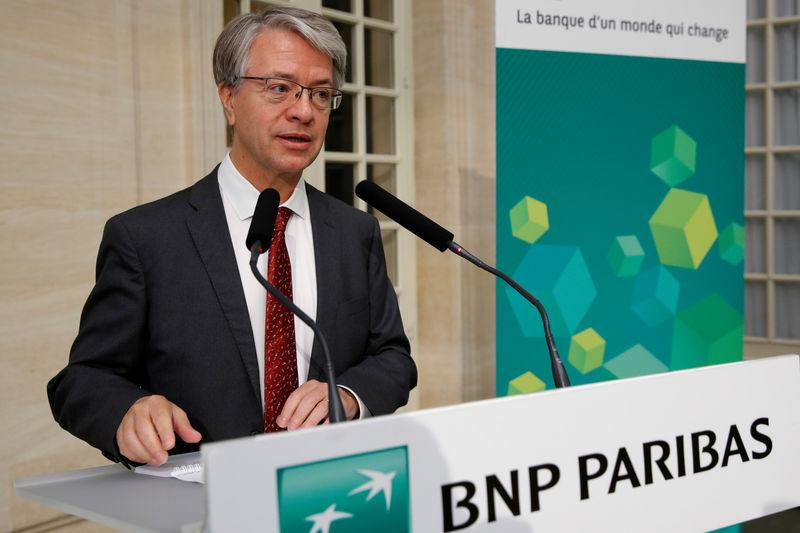 BNP Paribas CEO Jean-Laurent Bonnafe speaks during a news conference to present the bank's 2018 second quarter results in Paris