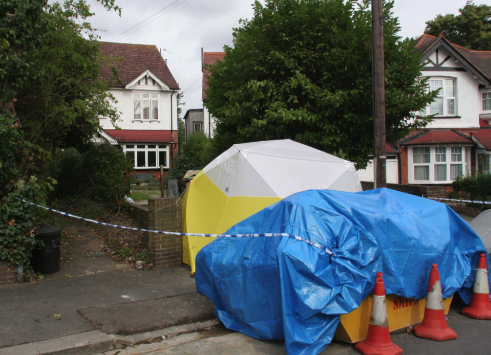 The home where Sally Ann Bowman's body was discovered (Picture: SWNS)