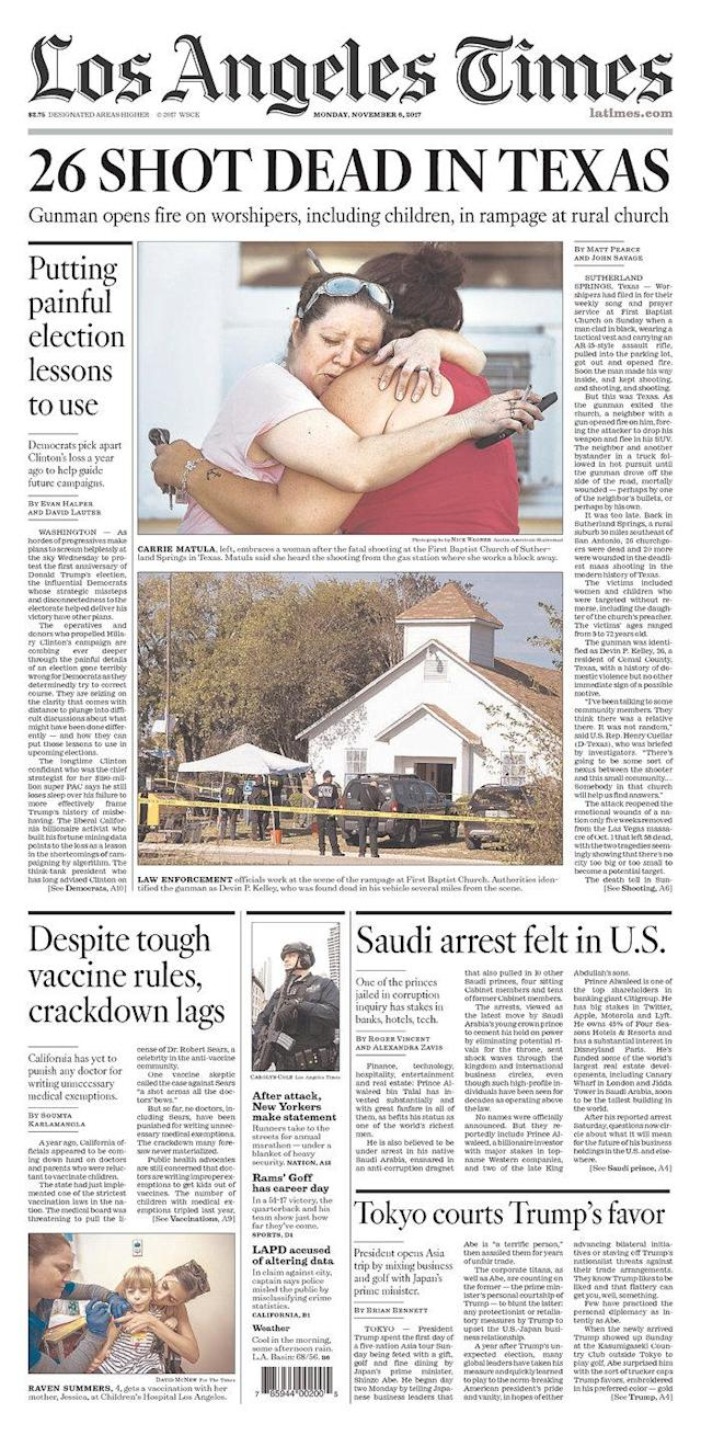 <p>LOS ANGELES TIMES<br> Published in Los Angeles, Calif. USA. (newseum.org) </p>