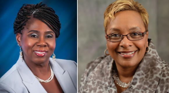 Trilby Barnes (left) and Dr. Charlene Dukes (right) share their journeys as black women growing up in different states and overcoming similar obstacles to achieve success.