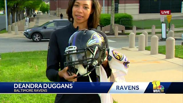 Baltimore Ravens' Deandra Duggans talks about their annual outlet sale.