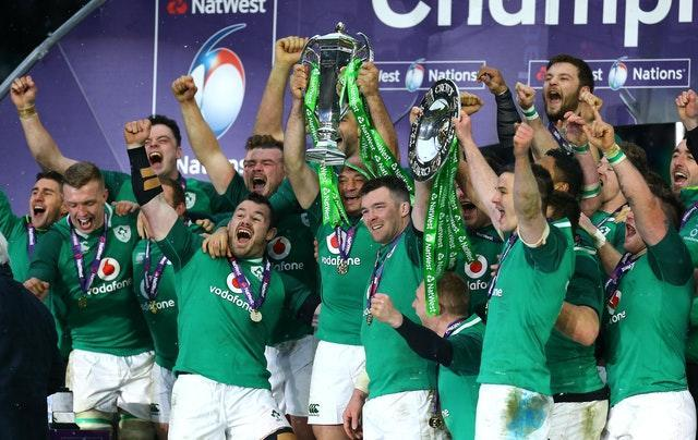 Ireland celebrate winning the Grand Slam