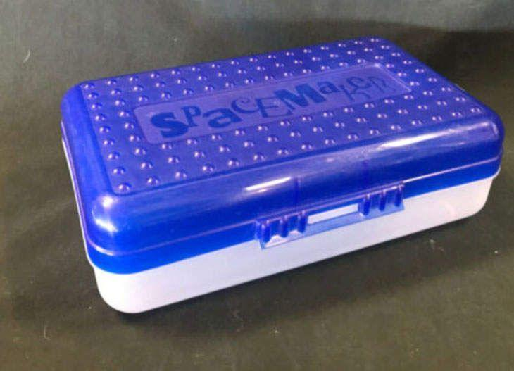 <p>Pencil boxes are definitely still an important school supply, but today's kids use mostly soft, small ones. Plastic Spacemaker boxes were super popular years ago, but they're hard to find nowadays. </p>