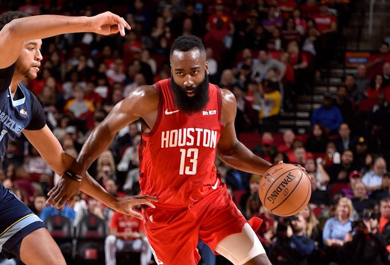 Rockets' James Harden sets record with free throws vs. Grizzlies