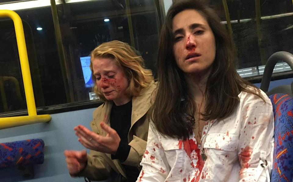 London bus attack Two women on a London bus covered in blood after alleged homophobic attack