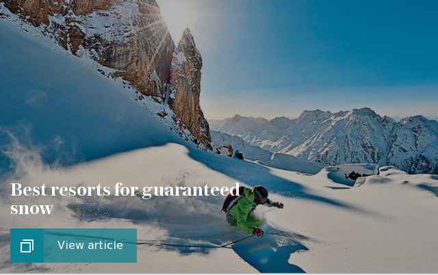 Best resorts for guaranteed snow