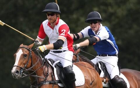 Prince Harry and Prince William on the polo field - Credit: PA