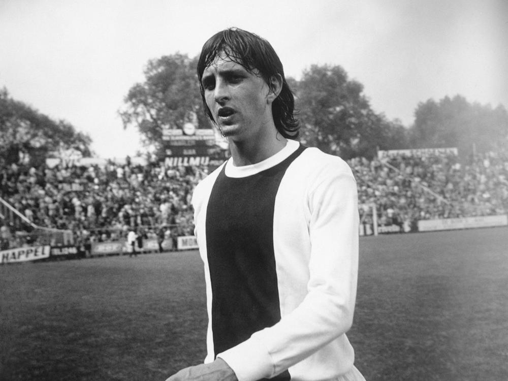 Johan Cruyff, pictured playing for Ajax in 1971: Getty