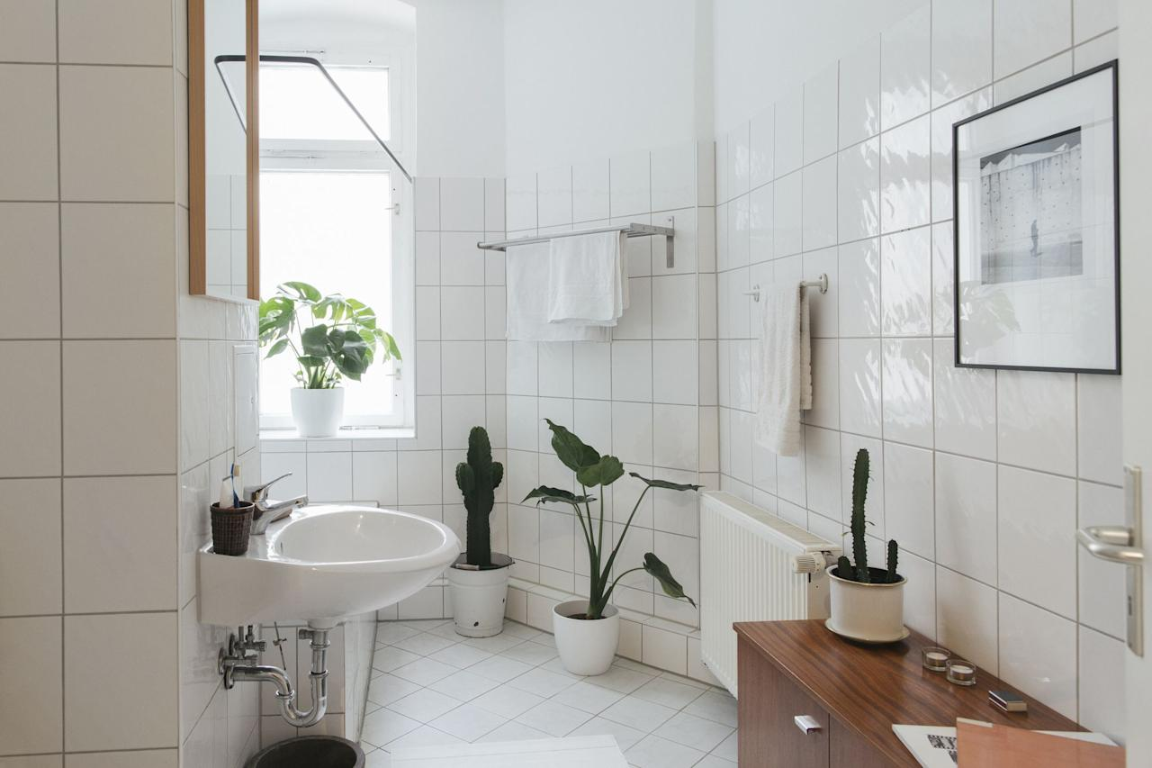 """<p>Grout is one of the main problem children of any <a href=""""https://www.countryliving.com/home-design/decorating-ideas/advice/g1369/bathroom-decorating-design-ideas/"""" target=""""_blank"""">bathroom</a>, <a href=""""https://www.countryliving.com/home-design/decorating-ideas/g1213/kitchen-designs/"""" target=""""_blank"""">kitchen</a>, and mudroom. The pasty substance that fills the gaps between your tiles is porous, absorbent, and rather difficult to clean. First and foremost, when you're installing tile,  consider going with a darker grout rather than a pristine white—it'll hide dirt better. But you don't want to just hide dirt—you want to keep things <em>clean</em>. We feel you. So let's start with some common mistakes: When it comes to tiled floors, mind your cleaning methods. As your going to town on sticky floors, your mop may be doing more damage than good, staining the grout with dirty water. You also might be tempted to go a little crazy with the bleach. That would be a mistake. While it would no doubt take care of bacteria, bleach can seriously damage and discolor your grout. But never fear! There <em>are </em>ways to get that grout spic-and-span. You can try <a href=""""https://www.countryliving.com/home-maintenance/cleaning/g27511153/best-grout-cleaner/"""" target=""""_blank"""">store-bought solutions,</a> or in  many cases, you can take on the task with items you already have on hand. Once you tackle the grout cleaning problem, you can take things up a notch by changing out <a href=""""https://www.countryliving.com/remodeling-renovation/expert-advice/g27720593/bathroom-countertops/"""" target=""""_blank"""">bathroom countertops</a>,  <a href=""""https://www.countryliving.com/home-design/decorating-ideas/g27872944/bathroom-wallpaper/"""" target=""""_blank"""">adding wallpaper to the bathroom</a>, or even starting from scratch in the <a href=""""https://www.countryliving.com/home-design/g25575743/bathroom-tile-ideas/"""" target=""""_blank"""">tile department</a>. You got this. Welcome to your new grout-standing life.  <b"""