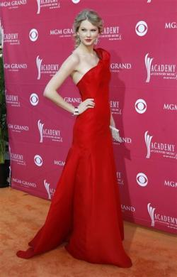 Singer Taylor Swift arrives at the 44th Annual Academy of Country Music Awards in Las Vegas April 5, 2009.