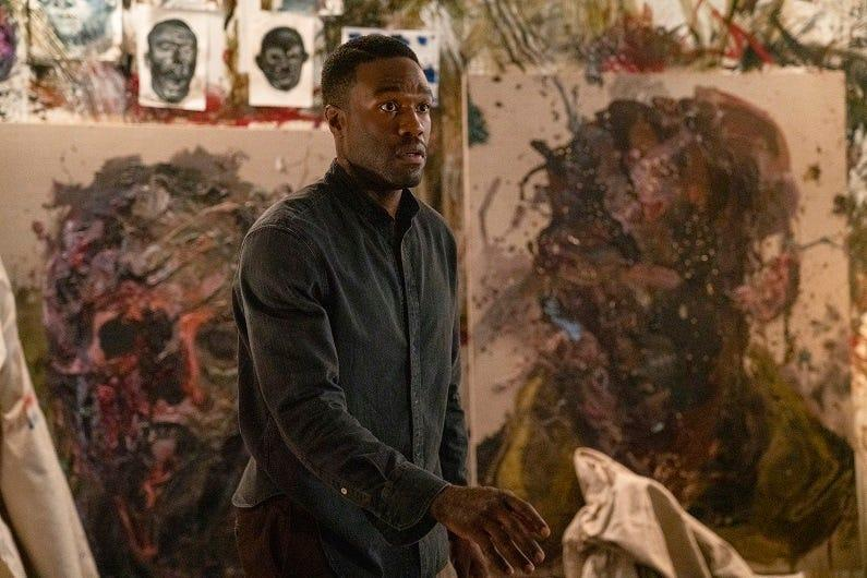 "Anthony McCoy (Yahya Abdul-Mateen II) has bad inspiration for his art in ""Candyman"""