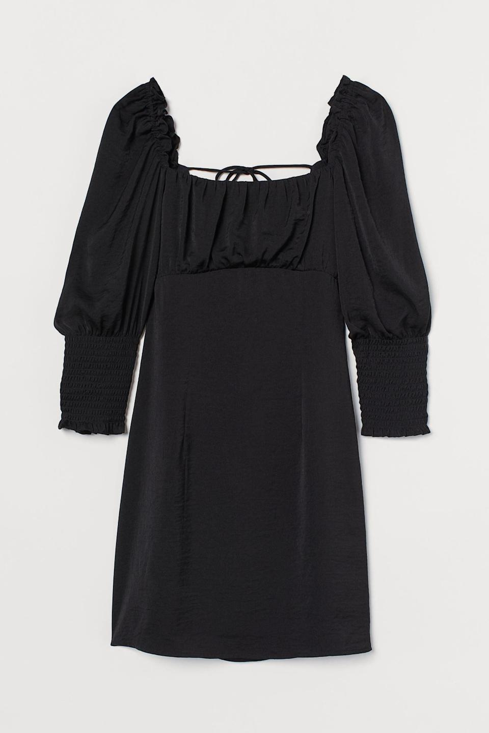 <p>This <span>H&amp;M Back-Laced Dress</span> ($14, originally $30) is the perfect LBD.</p>