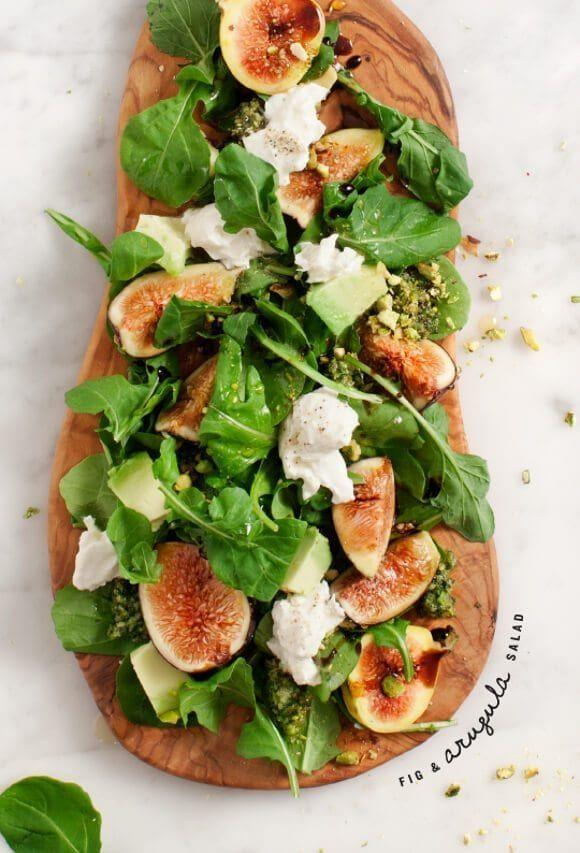 "<p>Looking for the ultimate <a href=""https://www.goodhousekeeping.com/food-recipes/easy/g28006549/easy-fall-salads/"" rel=""nofollow noopener"" target=""_blank"" data-ylk=""slk:fall salad"" class=""link rapid-noclick-resp"">fall salad</a>? This one adds luscious figs to a mouthwatering mix of arugula, burrata, and pistachio pesto.</p><p><em><a href=""https://www.loveandlemons.com/fig-arugula-pistachio-pesto-salad/"" rel=""nofollow noopener"" target=""_blank"" data-ylk=""slk:Get the recipe from Love & Lemons »"" class=""link rapid-noclick-resp"">Get the recipe from Love & Lemons »</a></em><br></p>"