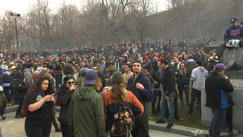 Montrealers light up for 420 with legalization on the horizon
