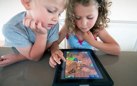 Children are rapidly switching their traditional toys for electronic devices, like tablet computers