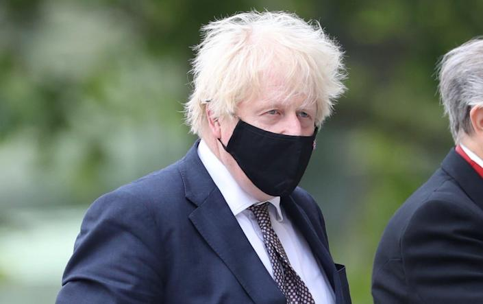Boris Johnson arrives at St Paul's Cathedral
