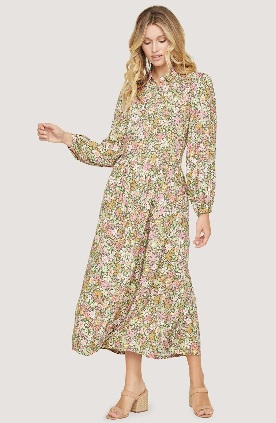 <p>This <span>Lost + Wander Getaway Island Maxi Dress</span> ($118) is a lovely choice for spring picnics.</p>