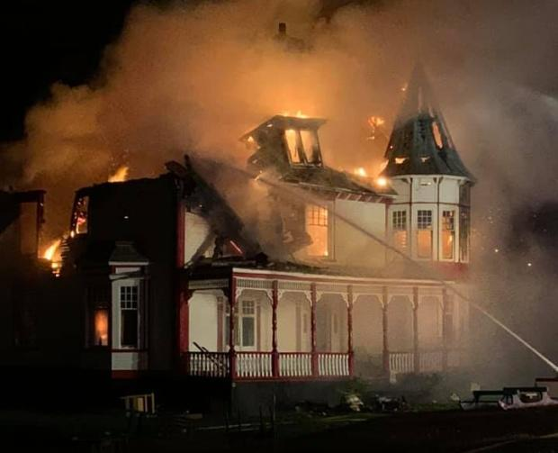 'All I saw was flames': Historic Twillingate building burns overnight