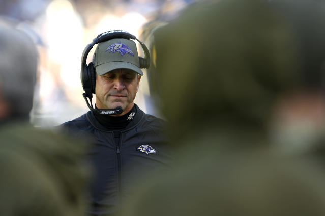Baltimore Ravens head coach John Harbaugh is keeping his team off the practice field this week. (AP)
