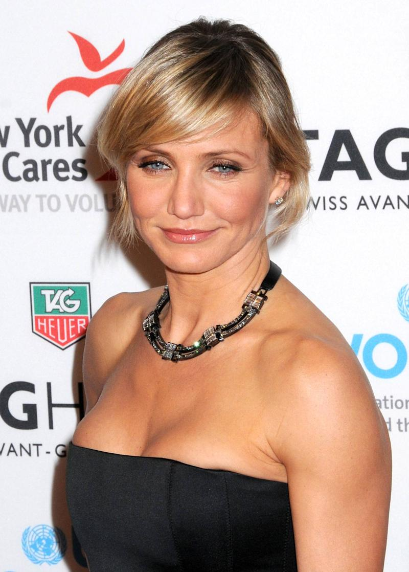 Cameron Diaz  joins TAG Heuer to raise money for UN Women and New York Cares' Hurricane Sandy Relief Effort, benefit held at the Museum of Natural History New York City, USA � 10.11.12 **Not available for publication in USA magazines. Available for publication in US tabloids and the rest of the world.** Mandatory Credit: WENN.com