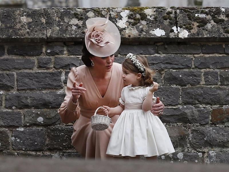 Kate and Princess Charlotte. Source: Getty