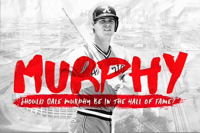 Dale Murphy gets another shot at the Hall of Fame this month. (Amber Matsumoto / Yahoo Sports)