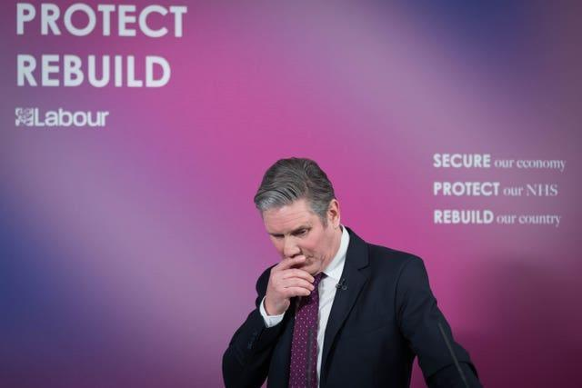 Labour leader Sir Keir Starmer delivers a virtual speech on Britain's economic future