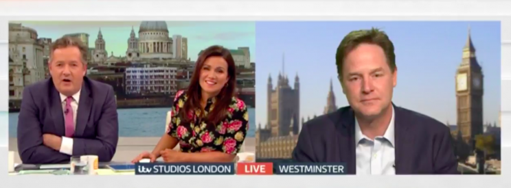 'Extraordinary man', Clegg mutters - and it's not a compliment [GMB]