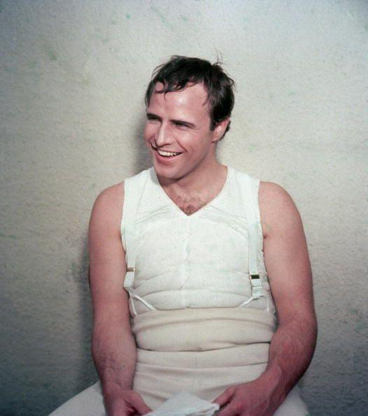 <p>Marlon Brando was known as a real man's man in Hollywood—and the actor didn't disappoint when it came to his chest hair, as proven here.</p>
