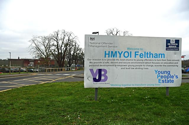 Feltham Young Offender Institute, where a disturbance occurred at lunchtime on Friday requiring around 14 staff to be treated (PA)