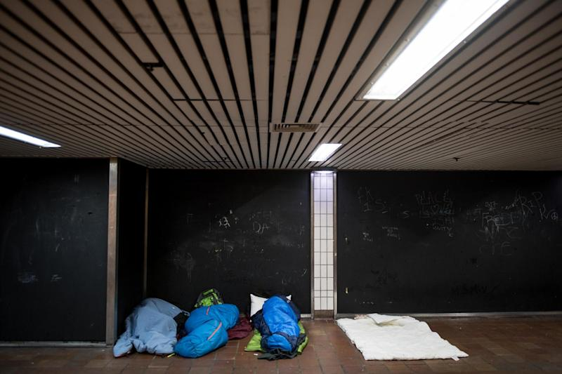 Homelessness: The local authority had ordered rough sleepers to move on or have their belongings taken away (stock image): Getty Images