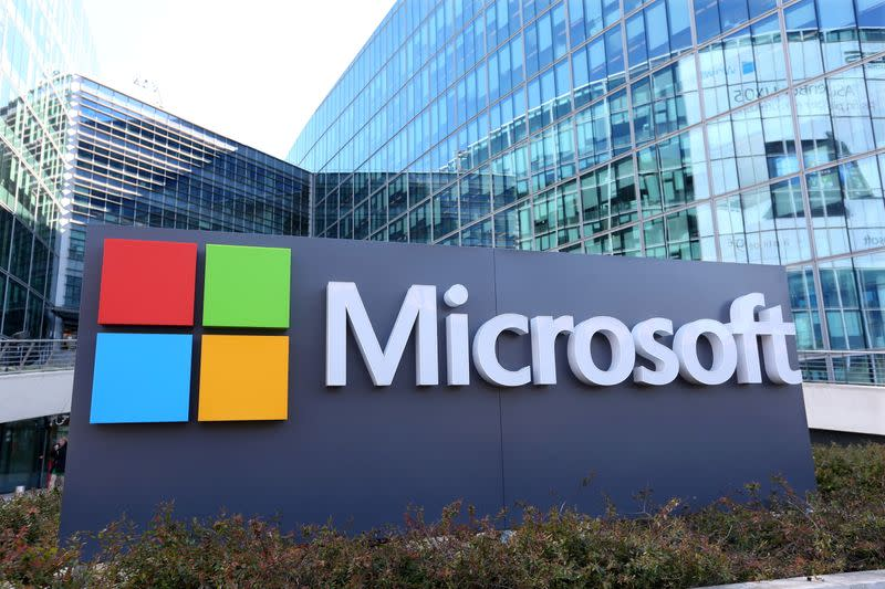 FILE PHOTO: General view of Microsoft Corporation headquarters at Issy-les-Moulineaux, near Paris