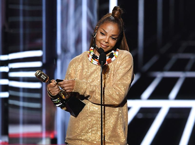 Janet Jackson, seen here accepting the Icon Award during the 2018 Billboard Music Awards on May 20, 2018 in Las Vegas, discusses her battle with depression in an essay published by Essence magazine
