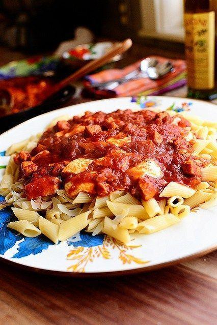 """<p>Smothered in marinara and creamy mozzarella, these noodles are out-of-this-world good. Top with basil for a colorful garnish.</p><p><strong><a href=""""https://thepioneerwoman.com/cooking/chicken-mozzarella-pasta/"""" rel=""""nofollow noopener"""" target=""""_blank"""" data-ylk=""""slk:Get the recipe"""" class=""""link rapid-noclick-resp"""">Get the recipe</a>.</strong></p>"""