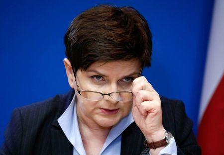 Poland's Prime Minister Beata Szydlo holds a news conference at the end of a European Union leaders summit in Brussels
